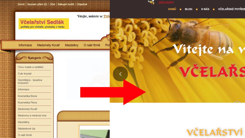 Vítáme vás v nové verzi webových stránek Včelařství Sedlákovi